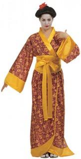 Geisha Damenkostüm Asien rot-schwarz