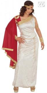 Römerin Kostüm Antikes Damenkostüm weiss-rot-gold