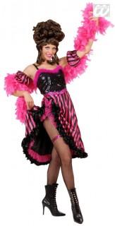 20er Jahre Showgirl Kostüm pink-schwarz