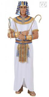 Pharao Kostüm in Theaterqualität weiss-gold-blau