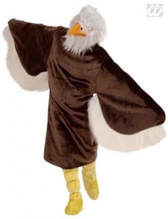 Adler Plüschkostüm M/L braun-gelb-weiss