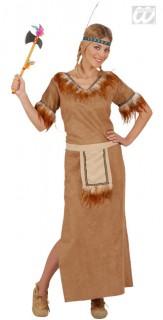Indianerin Damenkostüm braun