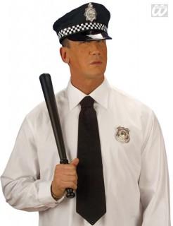 Polizistenmütze Kostüm-Zubehör schwarz
