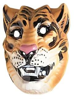 Tiger Maske Raubkatze hellbraun-schwarz-weiss