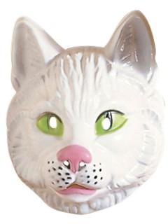 Katze Maske Gesichtsmaske weiss-grün-rosa