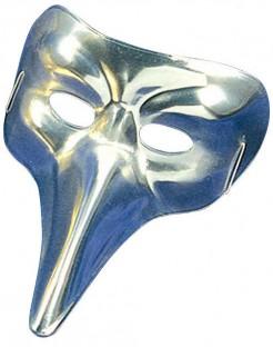 Venezianische Schnabel-Maske silber