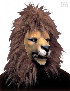 Löwe Karnevals-Maske braun-beige-schwarz