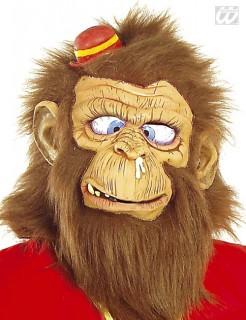 Zirkus-Affe Vollmaske Schimpanse beige-braun