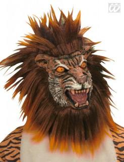 Tiger Maske mit Mähne braun-orange