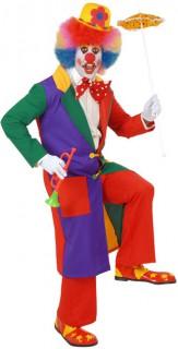 Clown Mantel Kostümzubehör bunt