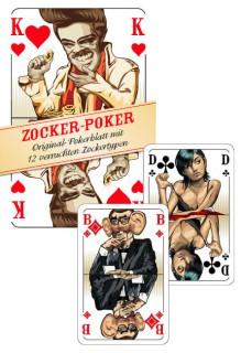 Zocker Poker Kartenspiel 52-teilig bunt 9x6x2cm