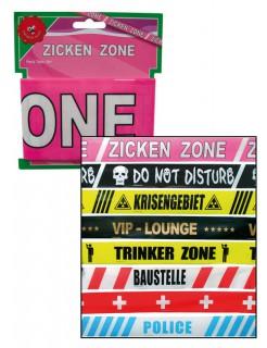 Absperrband Zickenzone JGA Party-Deko rosa-weiss 600x7,5cm