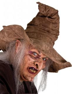 Halbmaske Hexe Halloweenmaske bunt