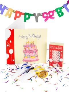 Miniwelt Geburtstags-Geschenkset 7-teilig bunt