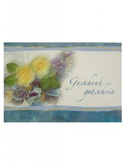 Geschenkgutschein Postkarte bunt 11x17cm