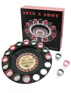 Trinkspiel Roulette mit Shotgläsern 19-teilig schwarz-rot 30cm