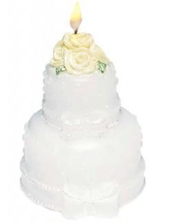 Kerze Hochzeitstorte Hochzeit Party-Deko weiss 5cm