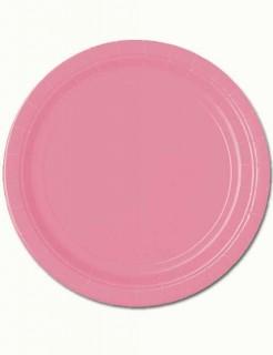 Pappteller Party-Deko 8 Stück pink 18cm