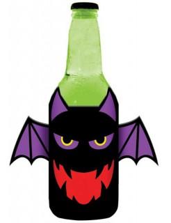 Fledermaus Flaschenkühler Halloween-Partydeko schwarz-lila 500ml