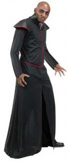 Vampir-Robe für Herren Halloween-Mantel schwarz-rot