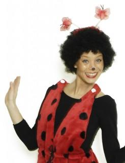 Marienkäfer Haarreif Kostüm-Accessoire rot-schwarz