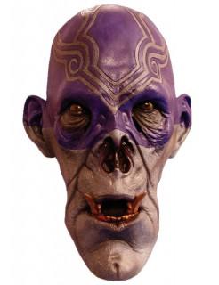 Zombie-Schamanenmaske Halloween-Maske grau-blau