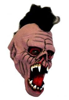 Zombie Punk Halloween-Maske grau-weiss-rot