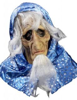 Baba Yaga-Maske Halloween-Accessoire blau-weiss