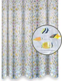 Fisch-Duschvorhand Dekoration bunt 180x180cm