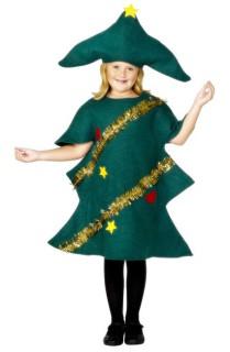 Weihnachtsbaum Kinderkostüm Weihnachten grün-gold