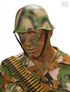 Soldatenhelm Camouflage Kostüm-Zubehör tarnfarben
