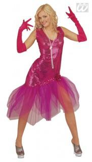 Filmdiva Damenkostüm Pailletten pink