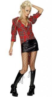 Schottin Kostüm rot-schwarz-weiss