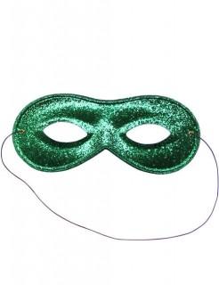 Venezianische Augenmaske grün glitter