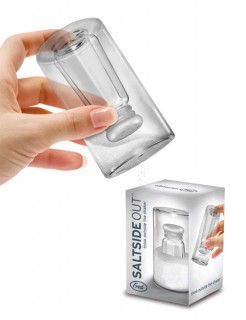 Witziger Salzstreuer Küchenartikel transparent 9,5cm