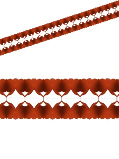 Einfarbige Girlande Party-Deko rot 400x12cm