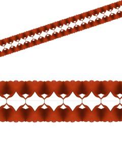 Einfarbige Girlande Party-Deko rot 400x12cm