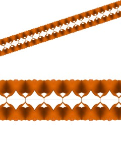 Einfarbige Girlande Party-Deko orange 400x12cm