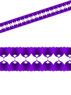 Einfarbige Girlande Party-Deko lila 400x12cm