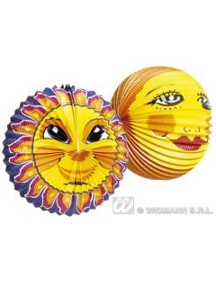 Lampion Sonne Gesicht gelb-orange