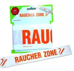 Raucher Zone Absperrband Party-Deko weiss-rot 6m