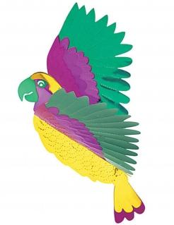 Papagei Hängedeko Party-Deko bunt 36x28cm