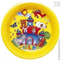 Märchen Pappteller Set 8 Stück gelb-bunt