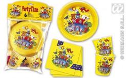 Märchen Party Set gelb-bunt