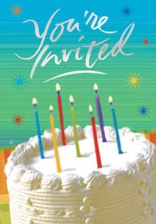 Geburtstag Einladungskarten 8 Stück bunt 10x25cm