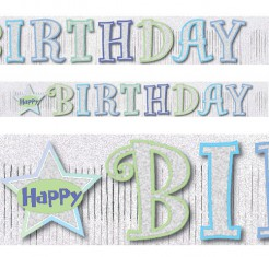 Geburtstag Banner Happy Birthday Party-Deko bunt 150x20cm