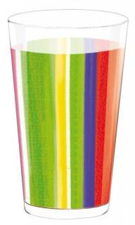 Mexiko Trinkbecher Party-Zubehör transparent-bunt 600ml