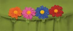 Tischdecken-Halter Blüten Party-Deko 4 Stück bunt