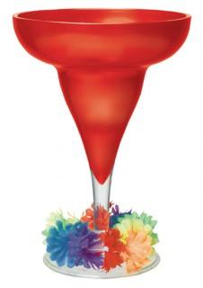 Margarita Glas Party-Deko Sommer rot