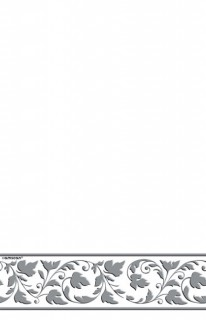 Tischdecke Deluxe Party-Zubehör weiss-silber 130x260cm